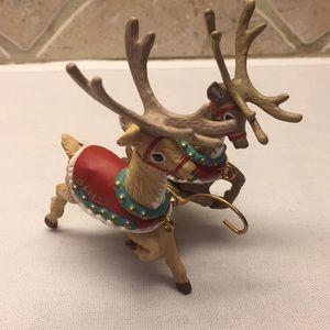 Hallmark Santa and his Reindeer Donder & Blitzen
